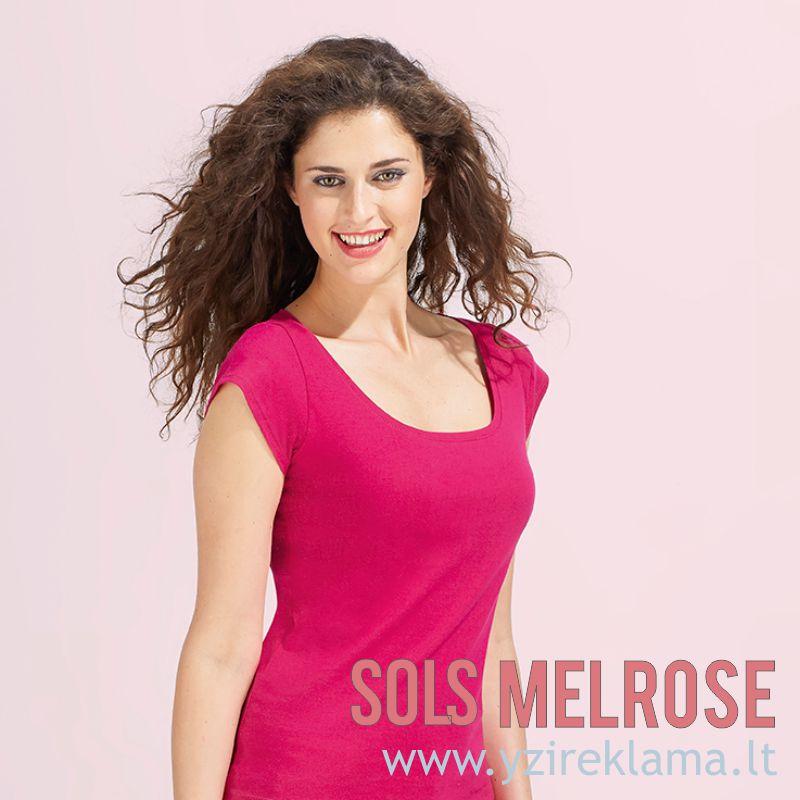 Marškinėliai moterims su gilia iškirpte MELROSE